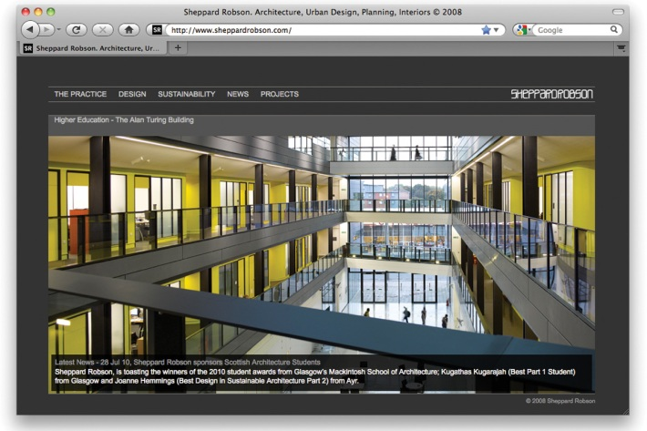 Sheppard Robson website and content management system