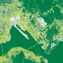 Inter Cities / Intra Cities: Ghostwriting the Future, satellite illustration of Kowloon East © The Oval Partnership